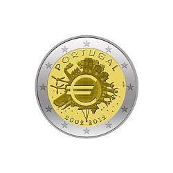 Moneda 2 euros conmemorativa Portugal 2012 10º Aniv. Euro
