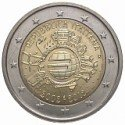 Moneda 2 euros conmemorativa 10º Aniv. Euro. Italia 2012
