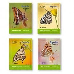 Sellos de España 2011. Fauna Española. Mariposas. **