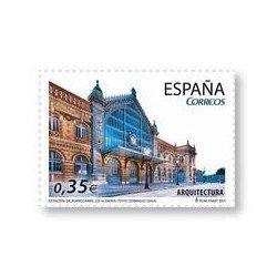 Sellos de España 2011. Arquitectura. Estación de Ferrocarril de Almería. **