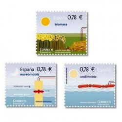 2010 Sellos de España (4584-86). Energías Renovables.