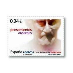 Sellos de España 2010. Día Mundial del Alzheimer. **