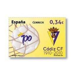 2010 Sellos de España (4588). Centenrio del Cádiz F.C.