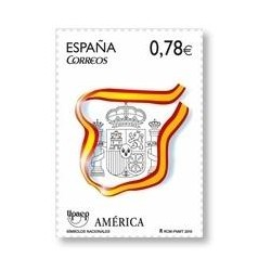 4601** Sellos de España 2010. América UPAEP, Símbolos Nacionales.