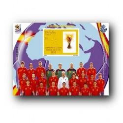 Sellos de España 2010. Campeones de la Copa del Mundo de la FIFA **
