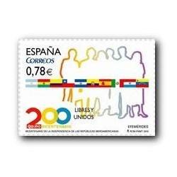 Sellos de España 2010. Independencia de las Repúblicas Iberoamerican **
