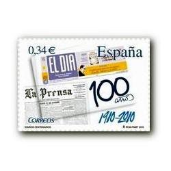 """2010 Sellos de España (4604). Diario """"El Día""""."""