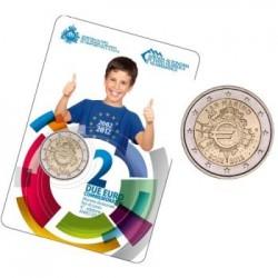 Cartera 2 euros conmemorativa 10º Aniv. Euro. San Marino 2012