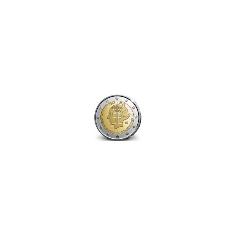 Moneda 2 euros conmemorativa. Belgica 2012