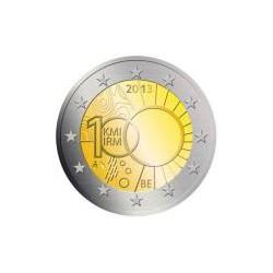 Moneda 2 euros conmemorativa. Belgica 2013