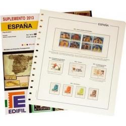 Suplemento Edifil España 2013 sólo Sellos y Hojas Bloque