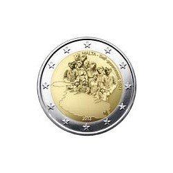 Moneda 2 euros conmemorativa. Malta 2013 Autogobierno