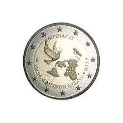 Moneda 2 euros conmemorativa. Monaco 2013 ONU