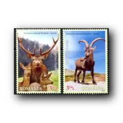 2012 Rumanía. Emisión conjunta con España. Fauna.