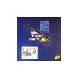 Álbum de sellos Correos España y Andorra 2008