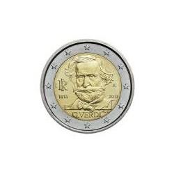 Moneda 2 euros conmemorativa. Italia 2013 Verdi