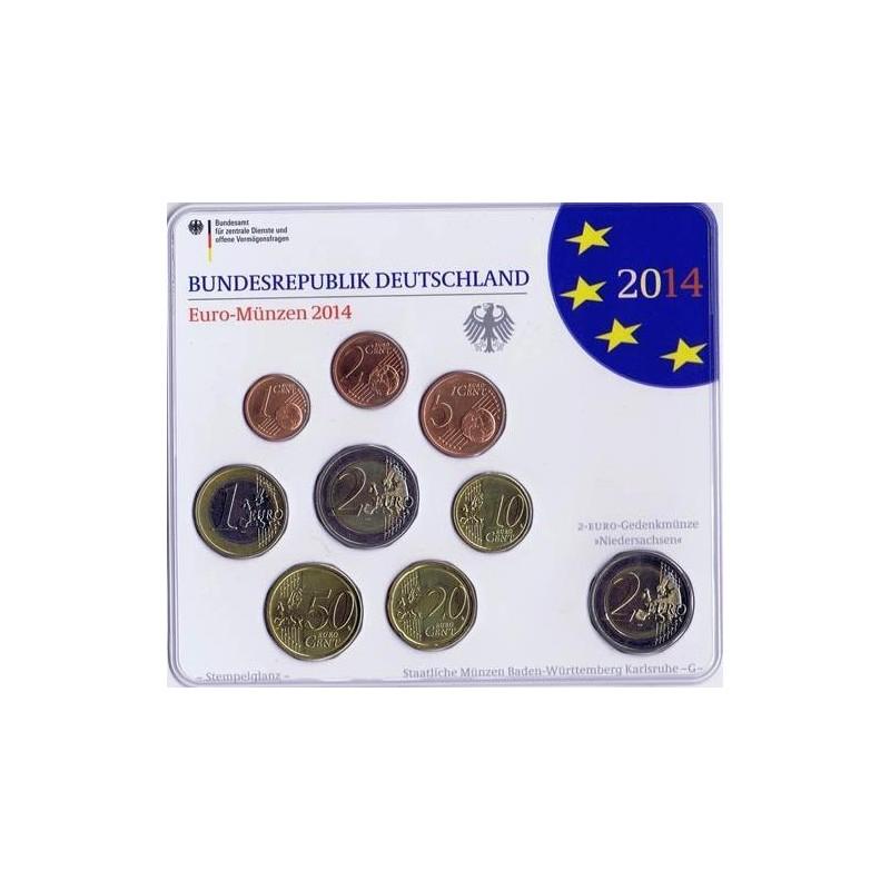 2014 Cartera oficial euroset Alemania (5 cecas)