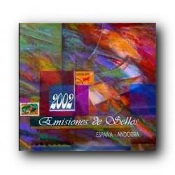 Álbum de sellos Correos España y Andorra 2002 sin sellos