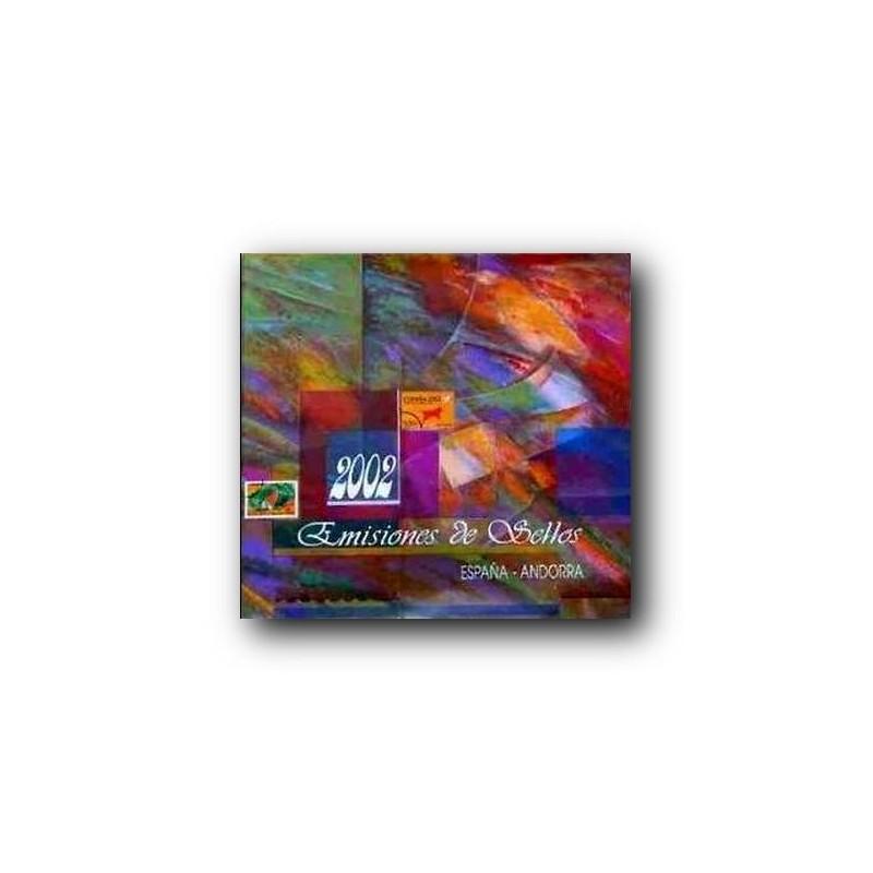 Álbum de sellos Correos España y Andorra 2002
