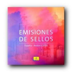 Álbum de sellos Correos España y Andorra 2004