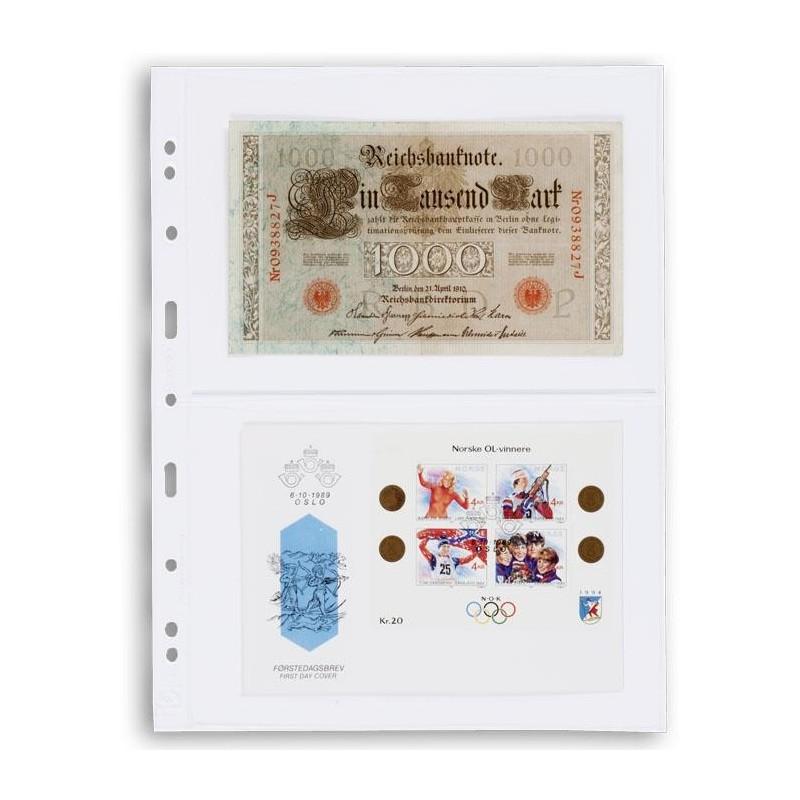 Hojas OPTIMA 2C para billetes y documentos (10 unds.)