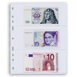 Hojas OPTIMA 3C transparentes para billetes (10 unds.)