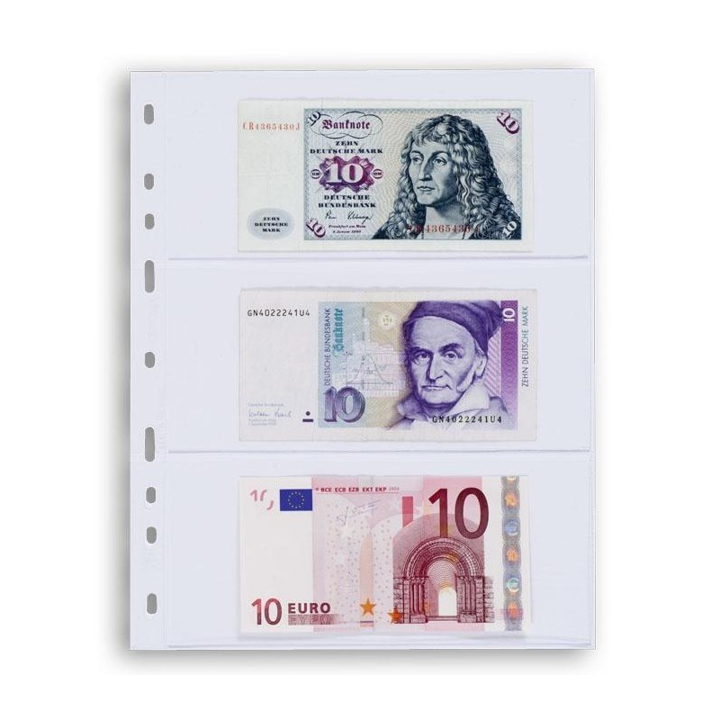 Hojas OPTIMA 3C para billetes (10 unds.)