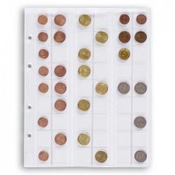 Hojas Leuchtturm OPTIMA 20 transpartentes para monedas (5 unds.)
