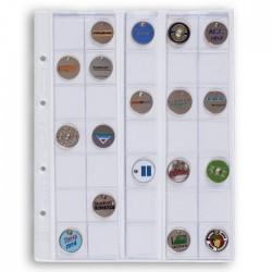 Hojas Leuchtturm OPTIMA 27 transparentes para monedas (5 unds.)