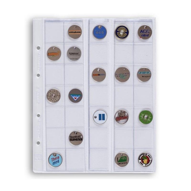 Hojas Leuchtturm OPTIMA 27 para monedas (5 unds.)