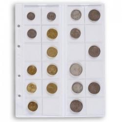 Hojas Leuchtturm OPTIMA 34 transparentes para monedas (5 unds.)