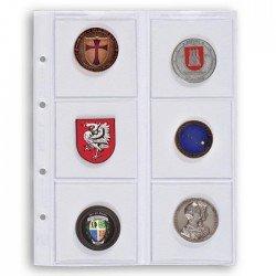 Hojas Leuchtturm OPTIMA 65 para monedas (5 unds.)