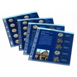 Hojas para monedas preimpresas anuales 2 euros conmem. (2010/2011)