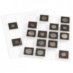 Hojas GRANDE ENCAP para monedas en cápsulas Quadrum (2 unds.)