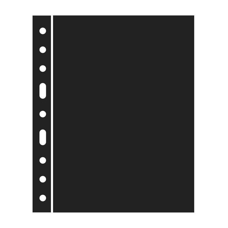 Hojas GRANDE separadoras en negro (5 unds.)