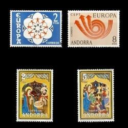 1973 Sellos de Andorra (Correo Español). Año Completo **