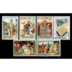 1975 Sellos de Andorra (Correo Español). Año Completo **