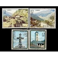 1977 Sellos de Andorra (Correo Español). Año Completo **