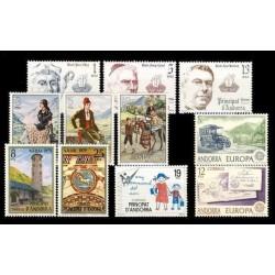 1979 Sellos de Andorra (Correo Español). Año Completo **