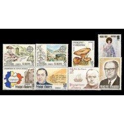 1983 Sellos de Andorra (Correo Español). Año Completo **