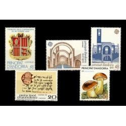 1987 Sellos de Andorra (Correo Español). Año Completo **