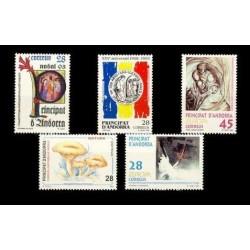 1993 Sellos de Andorra (Correo Español). Año Completo **