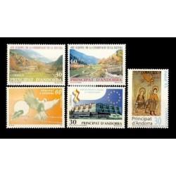 1995 Sellos de Andorra (Correo Español). Año Completo **