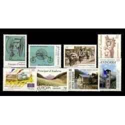 1999 Sellos de Andorra (Correo Español). Año Completo **