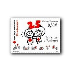 2007 Sellos Andorra Español. Cruz Roja Andorrana (Edif.350)**