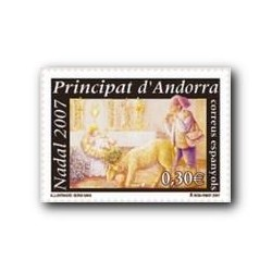 2007 Sellos Andorra Español. Navidad (Edif.351)**