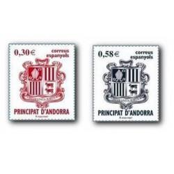 2007 Sellos Andorra Español. Serie Básica (Edif.343/44)**