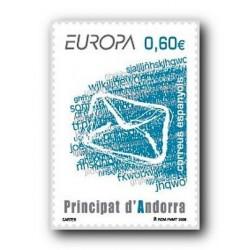 2008 Sellos Andorra Español.  Europa - Cartas (Edif.355)**