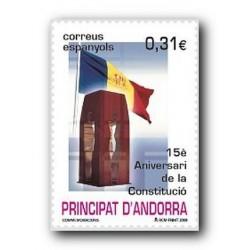 2008 Sellos Andorra Español. 15 Anv. de la Constitución (Edif.354)**