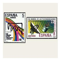 1979 España. Día Mundial de las Telecomunicaciones. Edif.2522/23